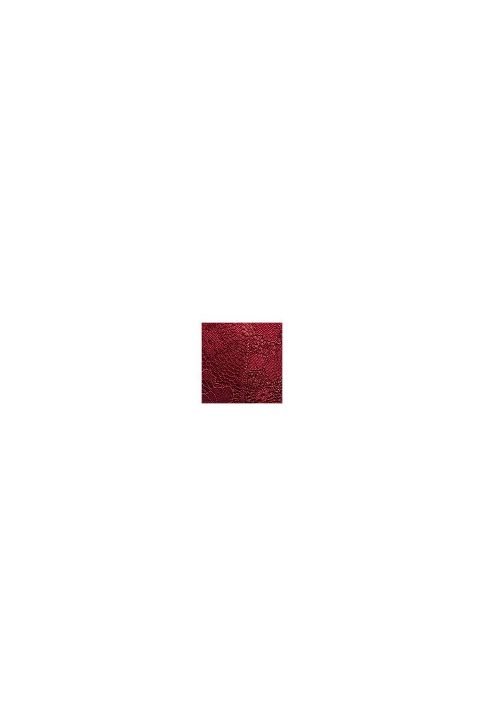 Wattierter Bügel-BH aus Spitze, DARK RED, swatch