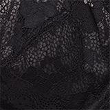 Unpadded underwire lace bra, BLACK, swatch