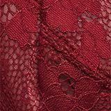 Unpadded underwire lace bra, DARK RED, swatch