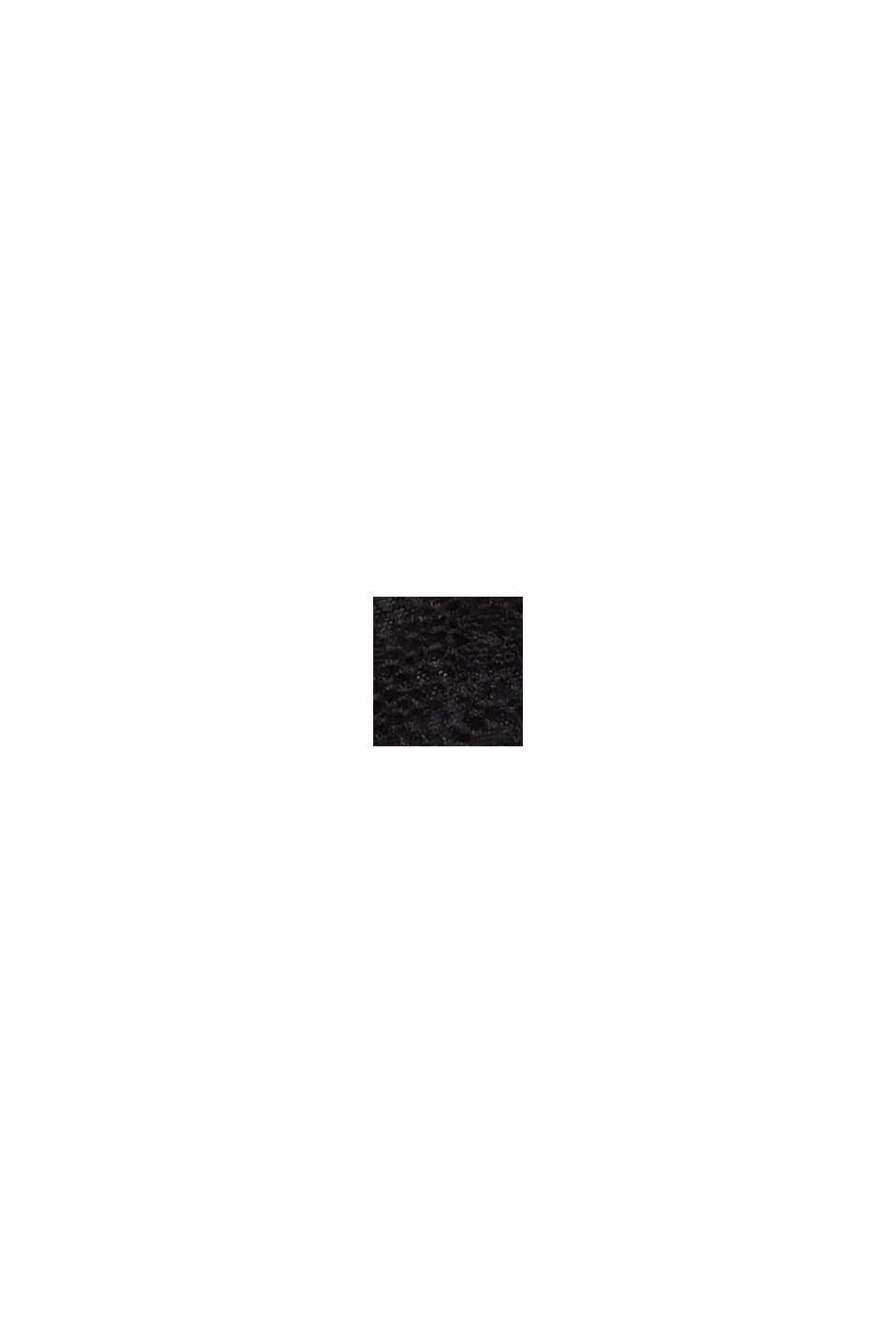 Upolstret bøjle-bh af elegant blondestof til store skålstørrelser, BLACK, swatch