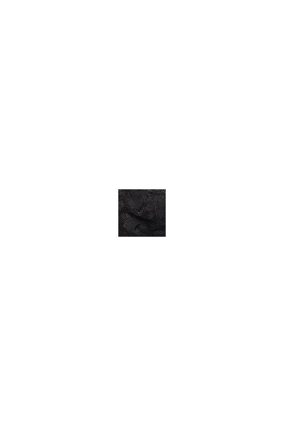 Unwattierter Bandeau-BH mit Spitze, BLACK, swatch