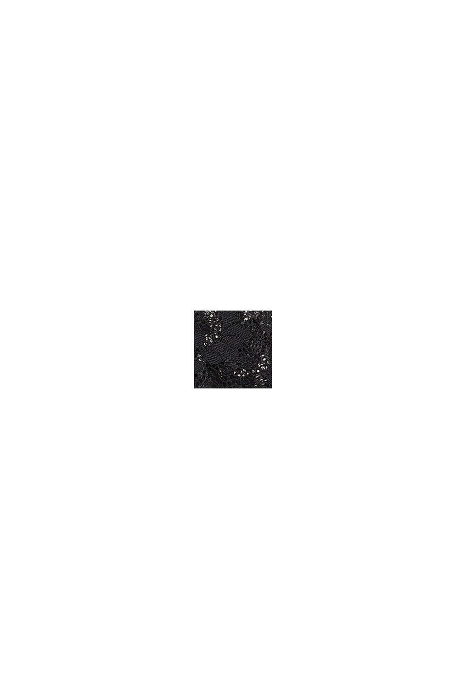 Floral lace garter belt, BLACK, swatch