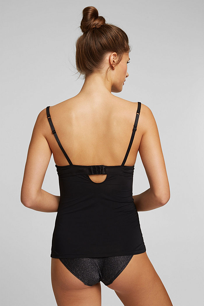 Camisole with padded cups, BLACK, detail image number 1