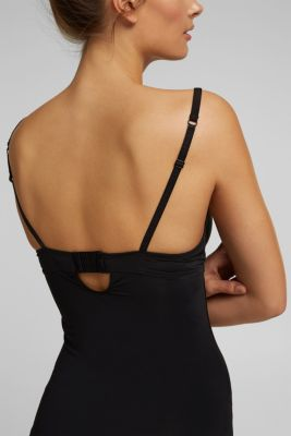 Camisole with padded cups, BLACK, detail