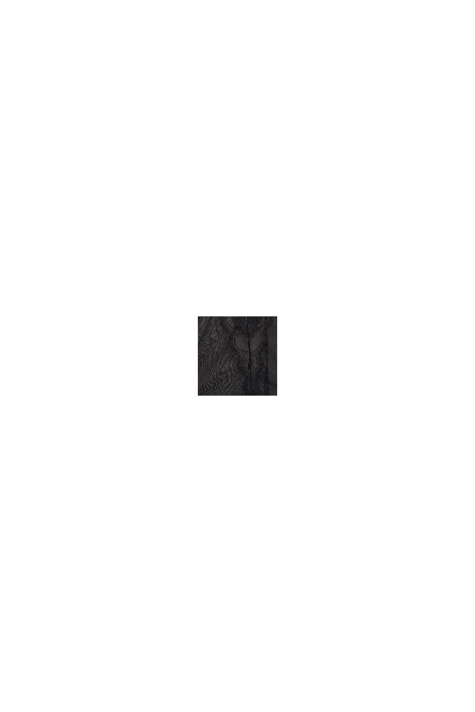 Caraco à bonnets rembourrés, orné de dentelle, BLACK, swatch
