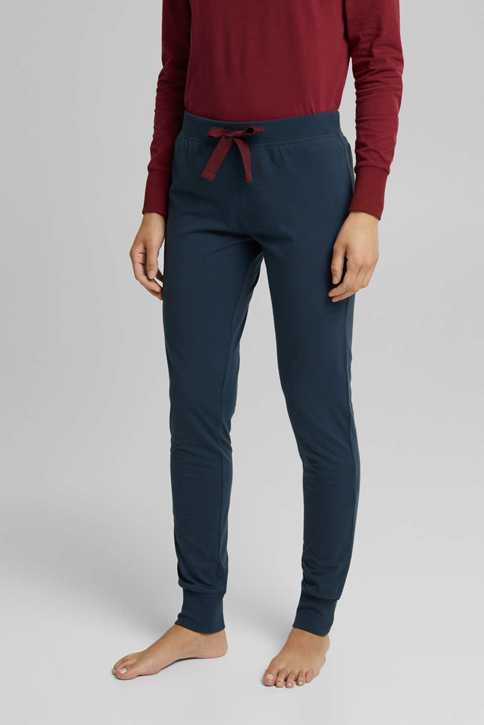 Esprit - Pyjama bottoms in 100% organic cotton
