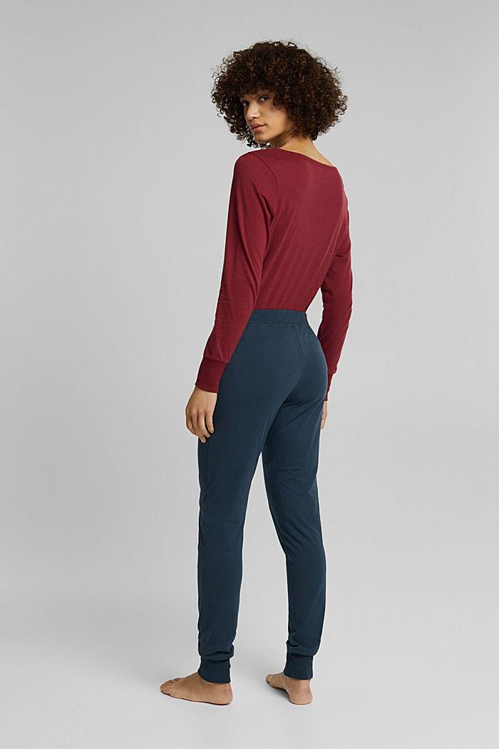 Pyjama bottoms in 100% organic cotton, INK, detail image number 3