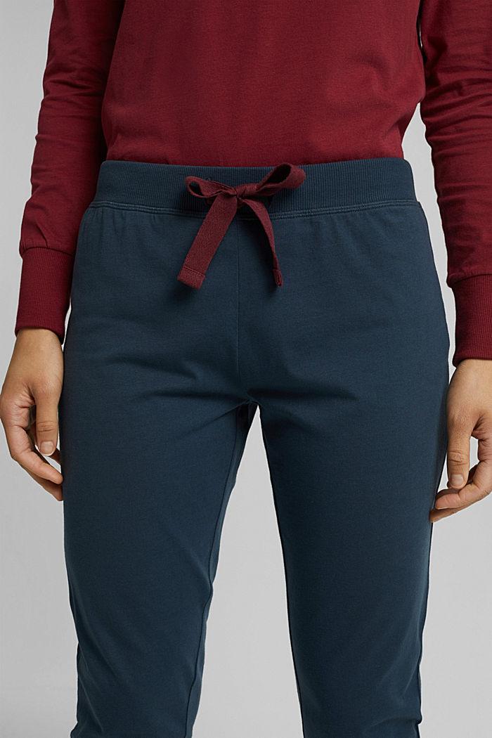 Pyjama bottoms in 100% organic cotton, INK, detail image number 2