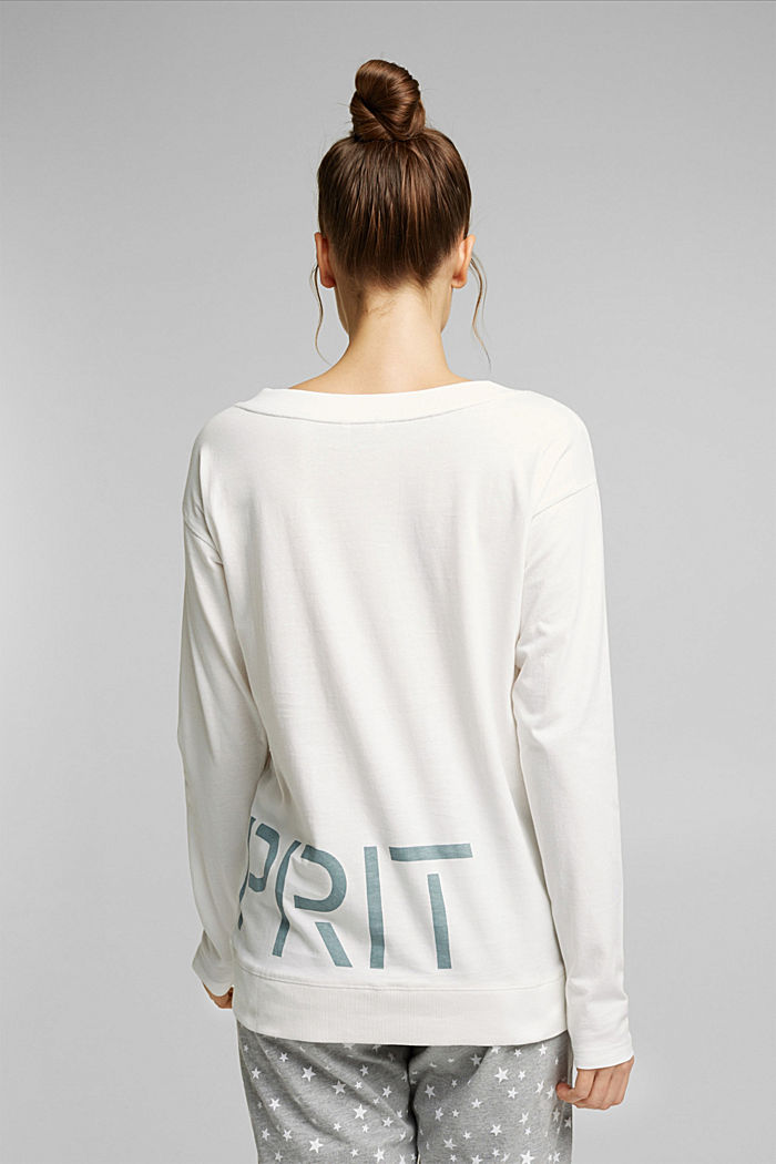Mix + Match long sleeve top made of 100% organic cotton, OFF WHITE, detail image number 2
