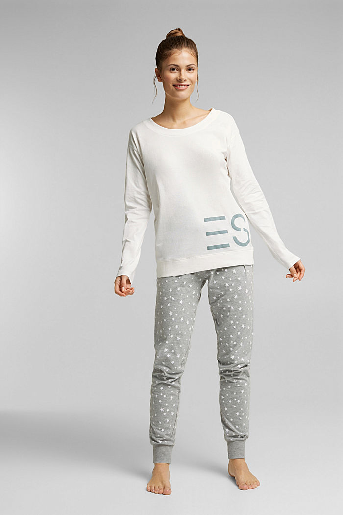 Mix + Match long sleeve top made of 100% organic cotton, OFF WHITE, detail image number 0