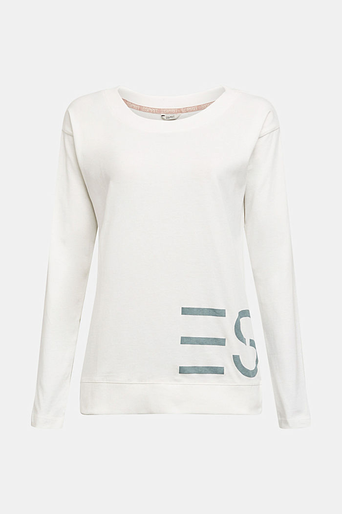 Mix + Match long sleeve top made of 100% organic cotton, OFF WHITE, detail image number 6