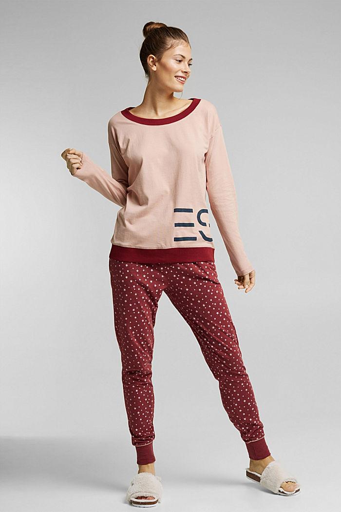 Pyjama top, DARK RED, detail image number 0