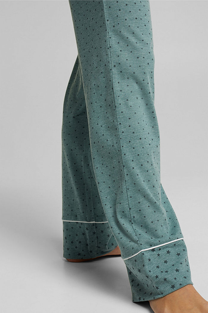 Pyjamas with an all-over print, TEAL GREEN, detail image number 4