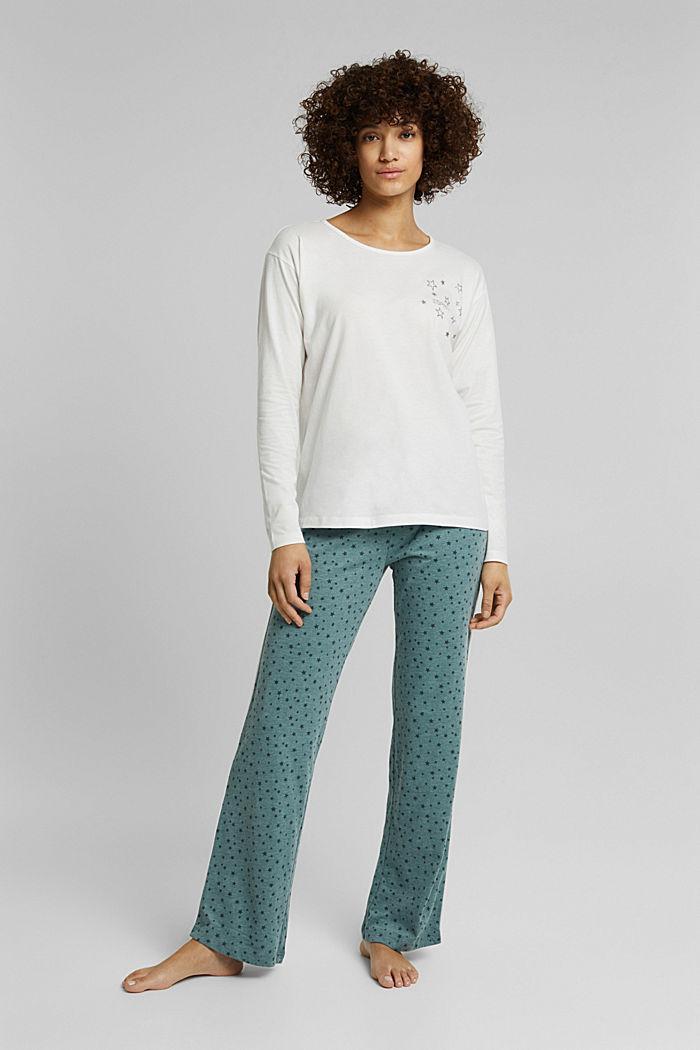 Jersey-Pyjama mit Sternchen-Print