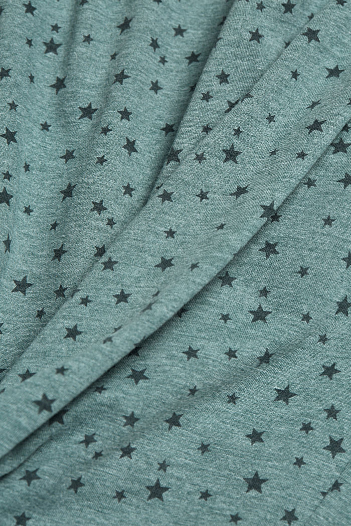 Pyjama bottoms with an all-over print, TEAL GREEN, detail image number 3