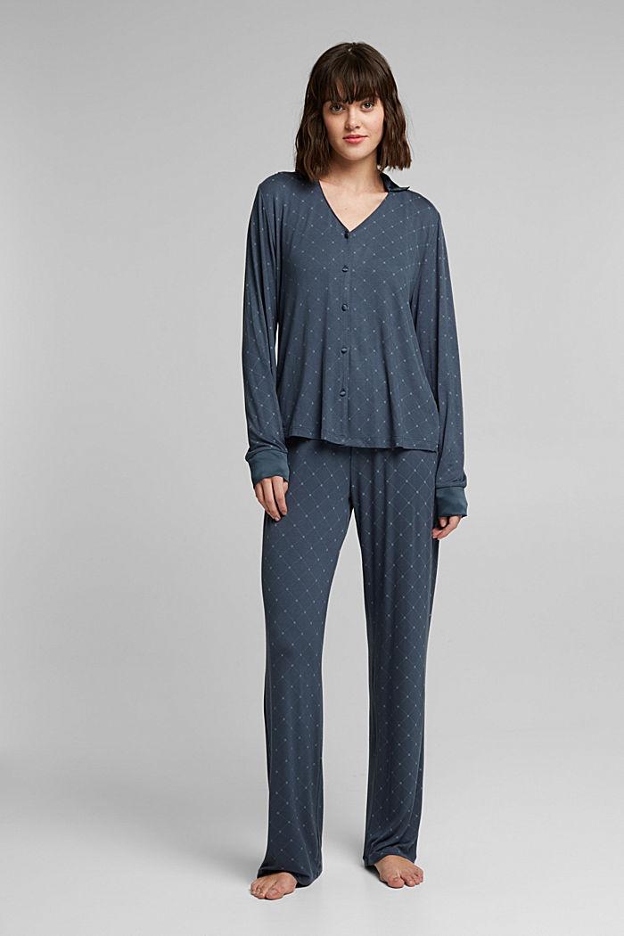 LENZING™ ECOVERO™ pyjamas, INK, detail image number 0