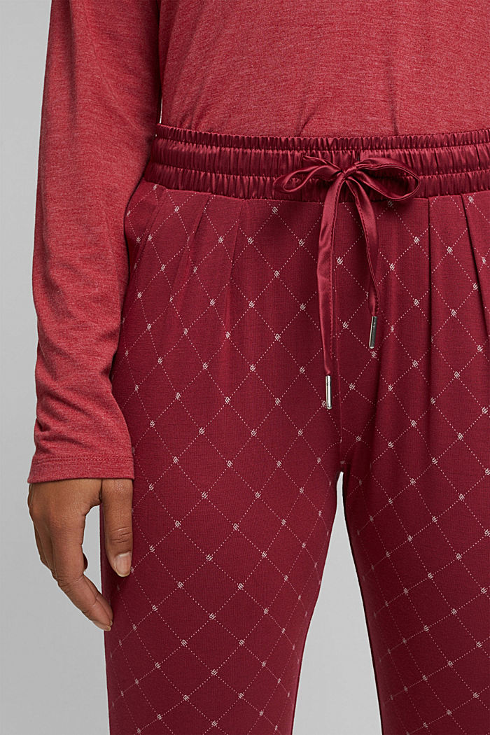 Pyjama bottoms with LENZING™ ECOVERO™, DARK RED, detail image number 2