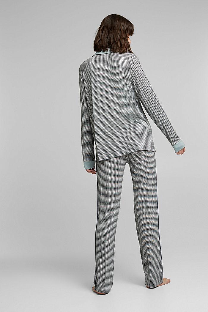 Jersey pyjamas in LENZING™ ECOVERO™, TEAL GREEN, detail image number 2