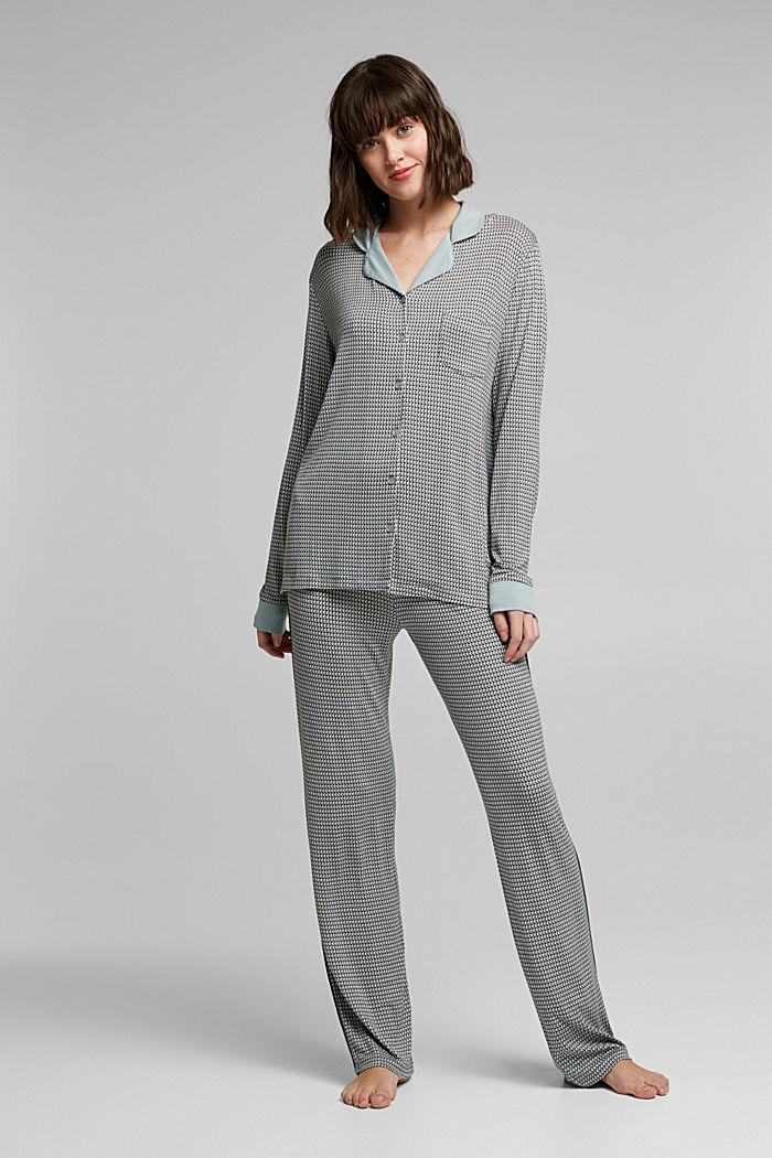 Jersey pyjamas in LENZING™ ECOVERO™, TEAL GREEN, detail image number 0