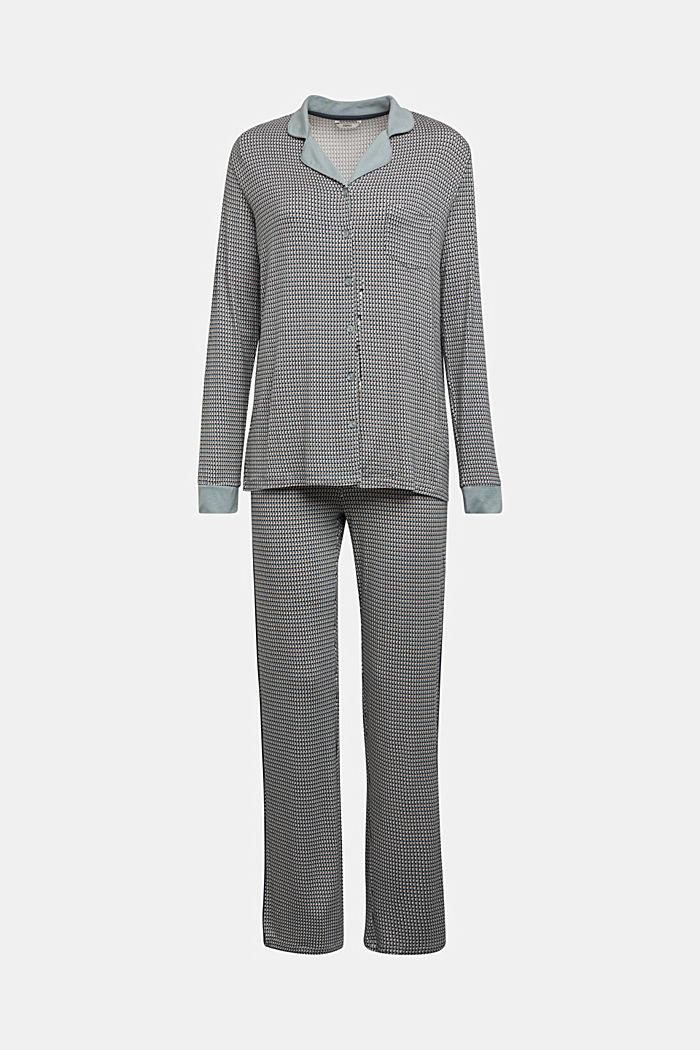 Jersey pyjamas in LENZING™ ECOVERO™, TEAL GREEN, detail image number 5