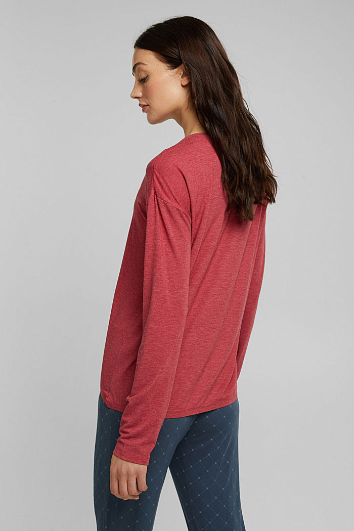 Long sleeve top with LENZING™ ECOVERO™, DARK RED, detail image number 2