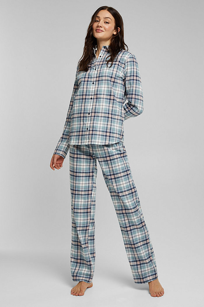 Flannel pyjamas made of organic cotton, INK, detail image number 0