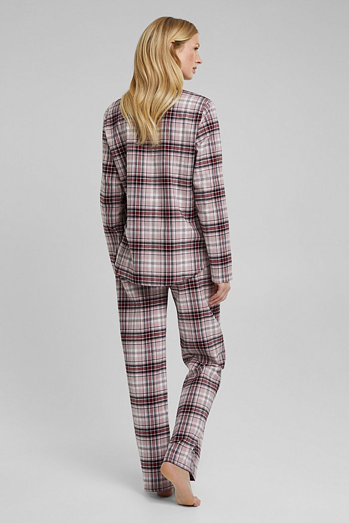 Flannel pyjamas made of organic cotton, DARK RED, detail image number 2