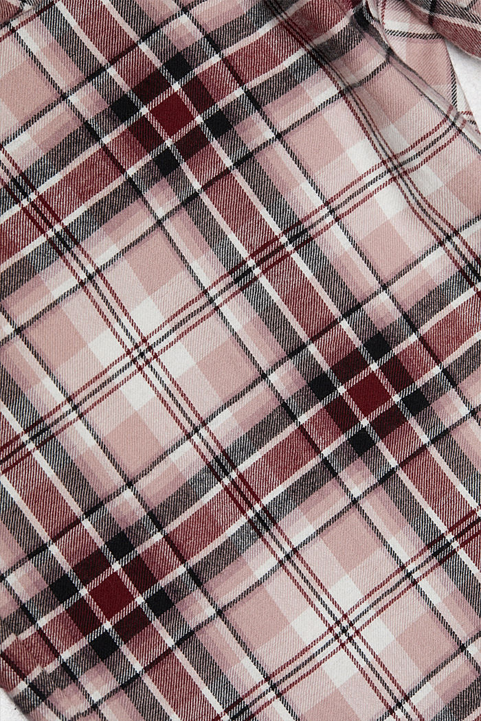 Flannel pyjamas made of organic cotton, DARK RED, detail image number 4