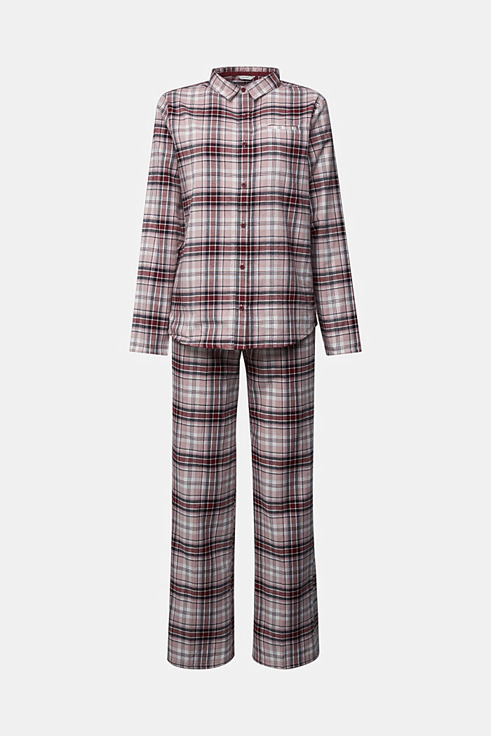 Flannel pyjamas made of organic cotton, DARK RED, detail image number 5
