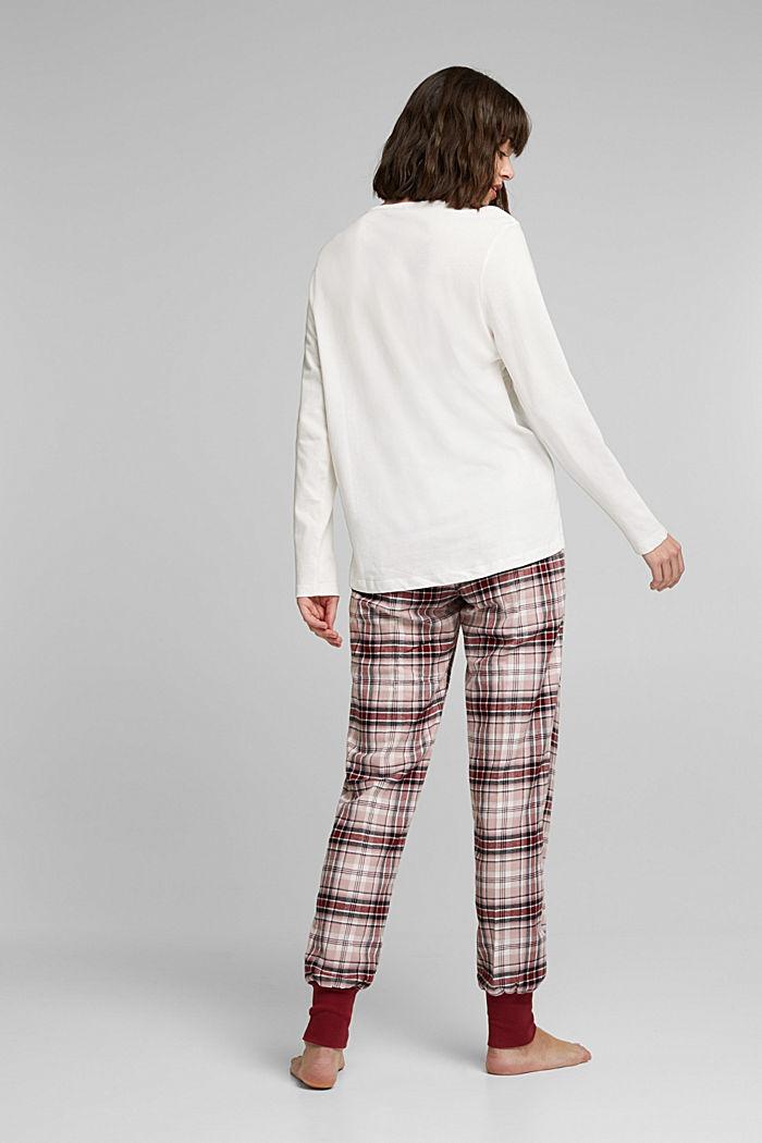 Pyjamas made of organic cotton, DARK RED, detail image number 1