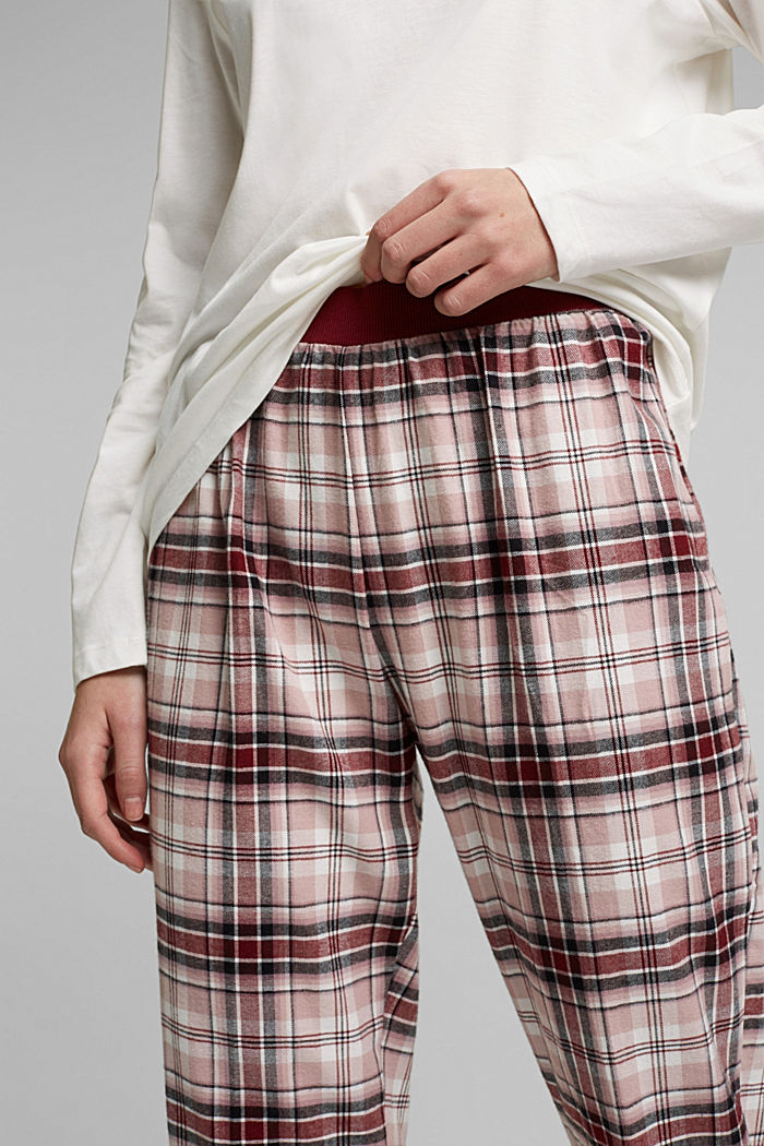 Pyjamas made of organic cotton, DARK RED, detail image number 2
