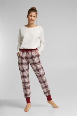 Pyjama bottoms, DARK RED, detail