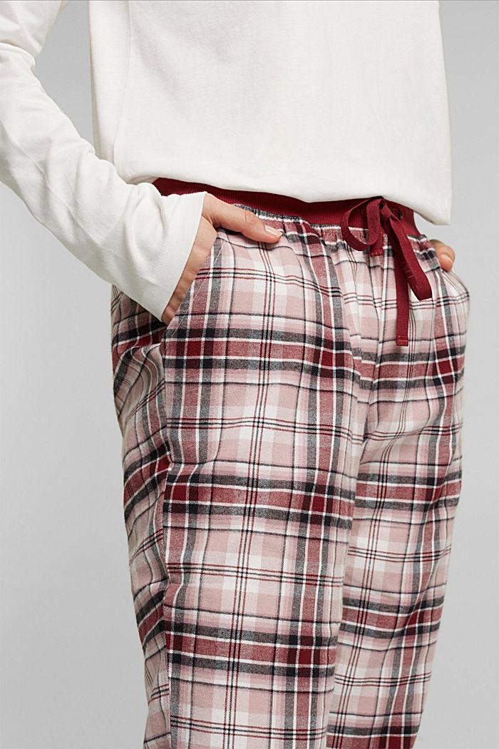Pyjama bottoms, DARK RED, detail image number 1