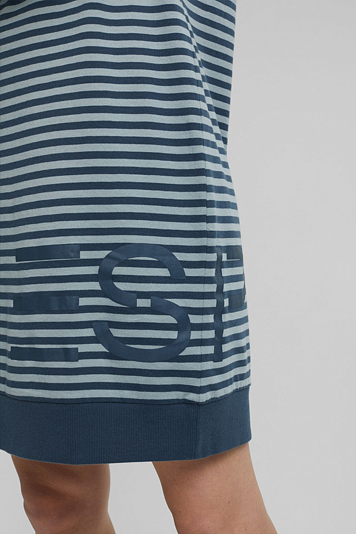 Jersey nightshirt with a logo print, TEAL GREEN, detail image number 3