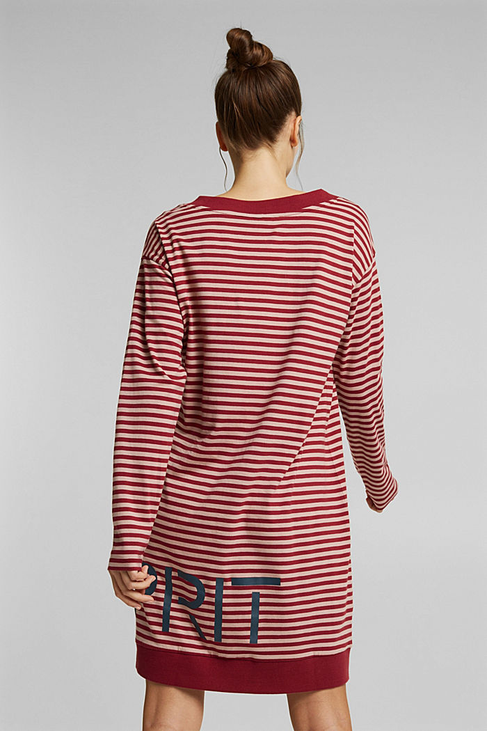 Jersey nightshirt with a logo print, DARK RED, detail image number 1