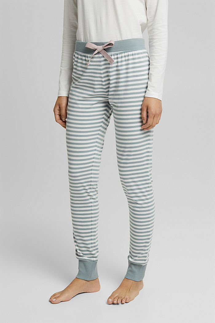 Pyjama bottoms in 100% organic cotton, OFF WHITE, detail image number 0