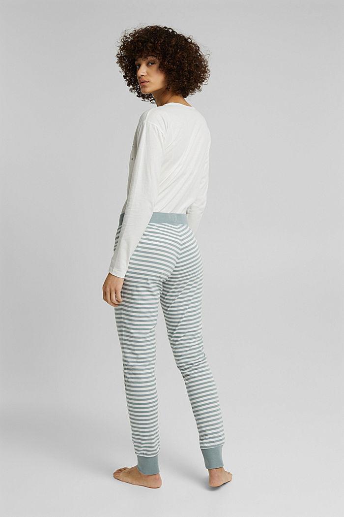 Pyjama bottoms in 100% organic cotton, OFF WHITE, detail image number 3