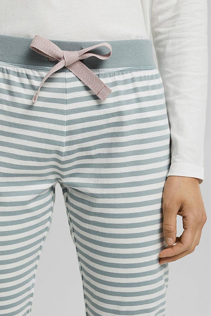 Pyjama bottoms in 100% organic cotton, OFF WHITE, detail image number 2
