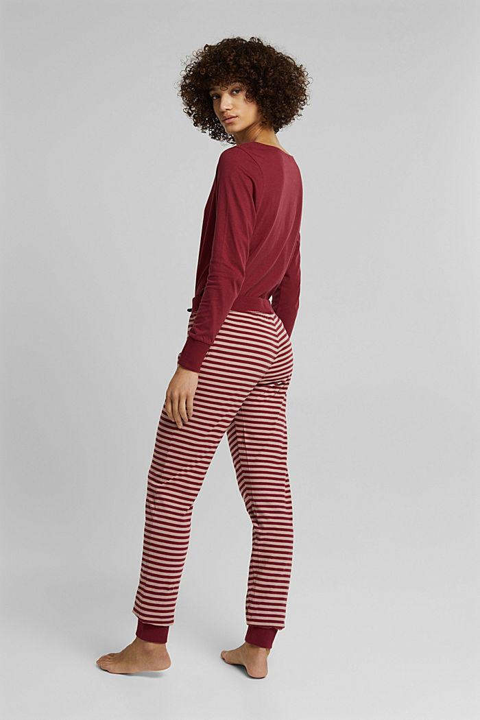 Pyjama-Hose aus 100% Organic Cotton, DARK RED, detail image number 3