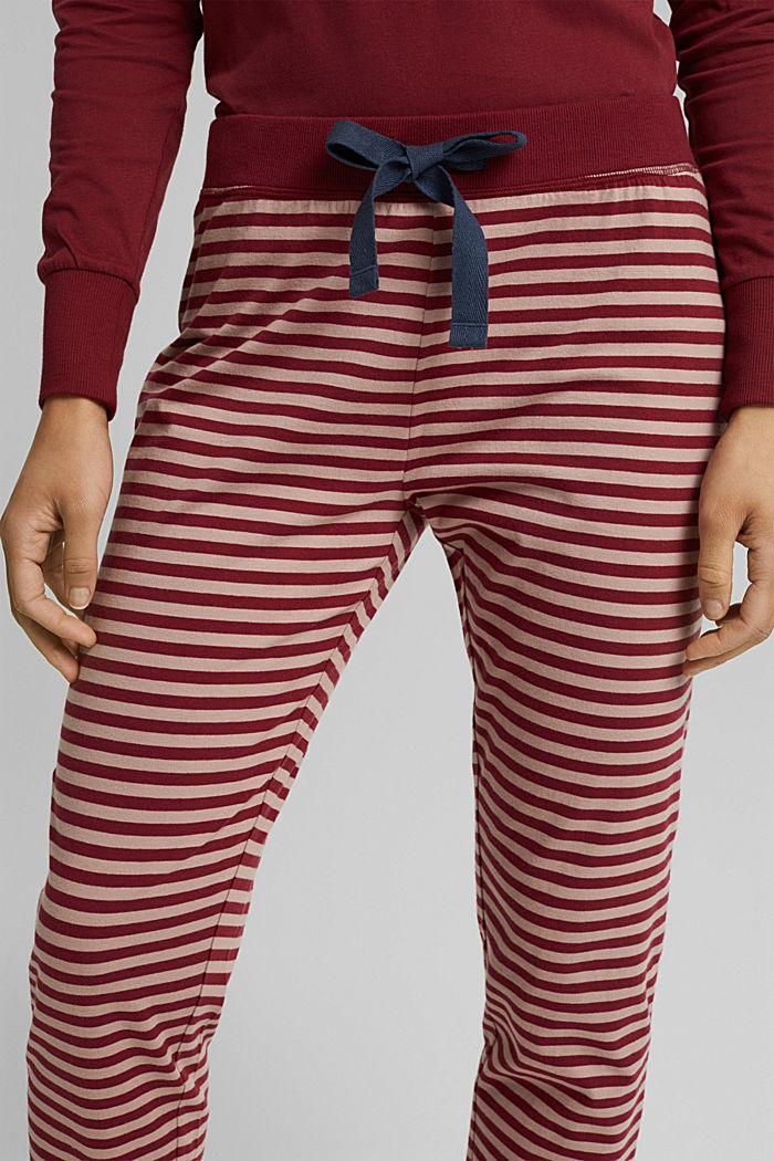 Pyjama-Hose aus 100% Organic Cotton, DARK RED, detail image number 2