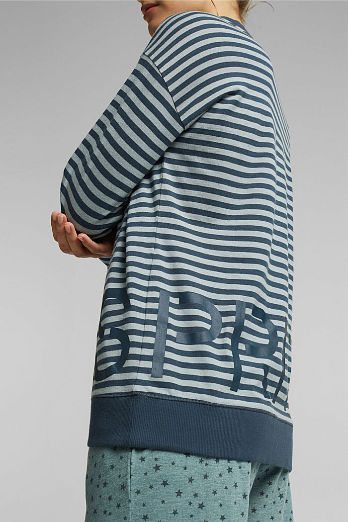 Mix + Match long sleeve top made of 100% organic cotton, TEAL GREEN, detail image number 3