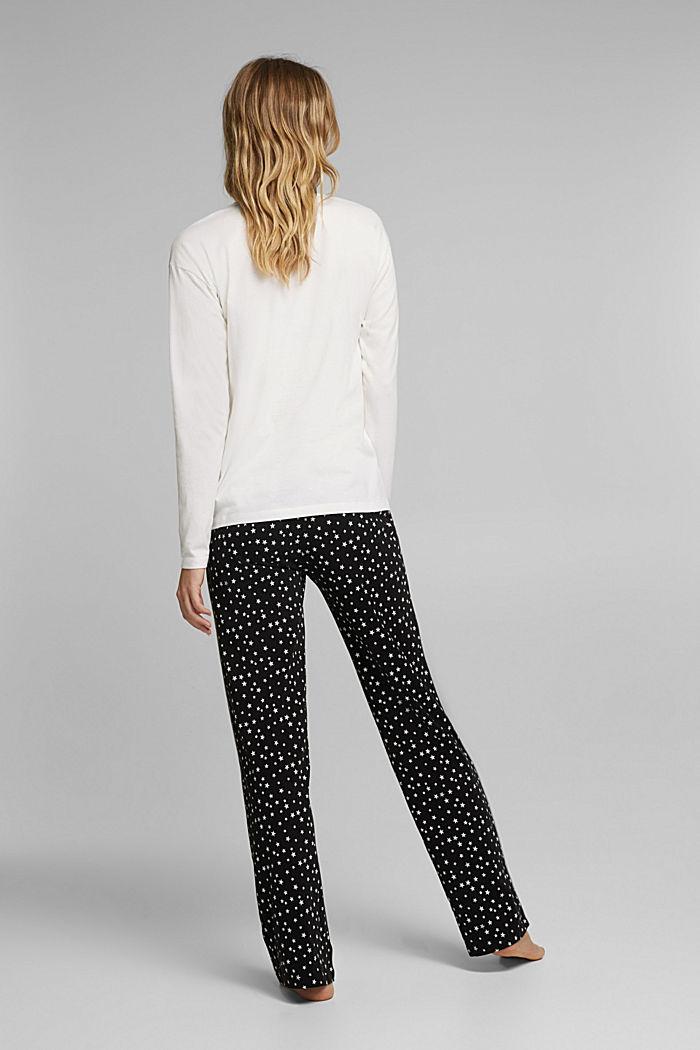 Jersey pyjamas made of 100% organic cotton, BLACK, detail image number 2