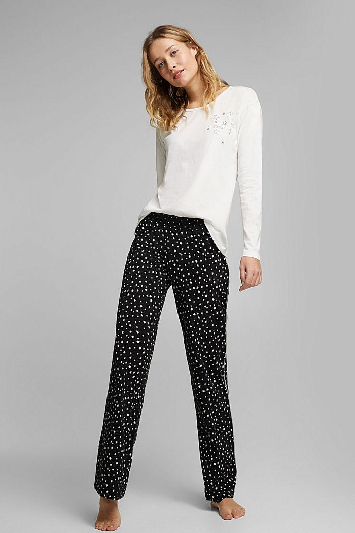Jersey pyjamas made of 100% organic cotton, BLACK, detail image number 0