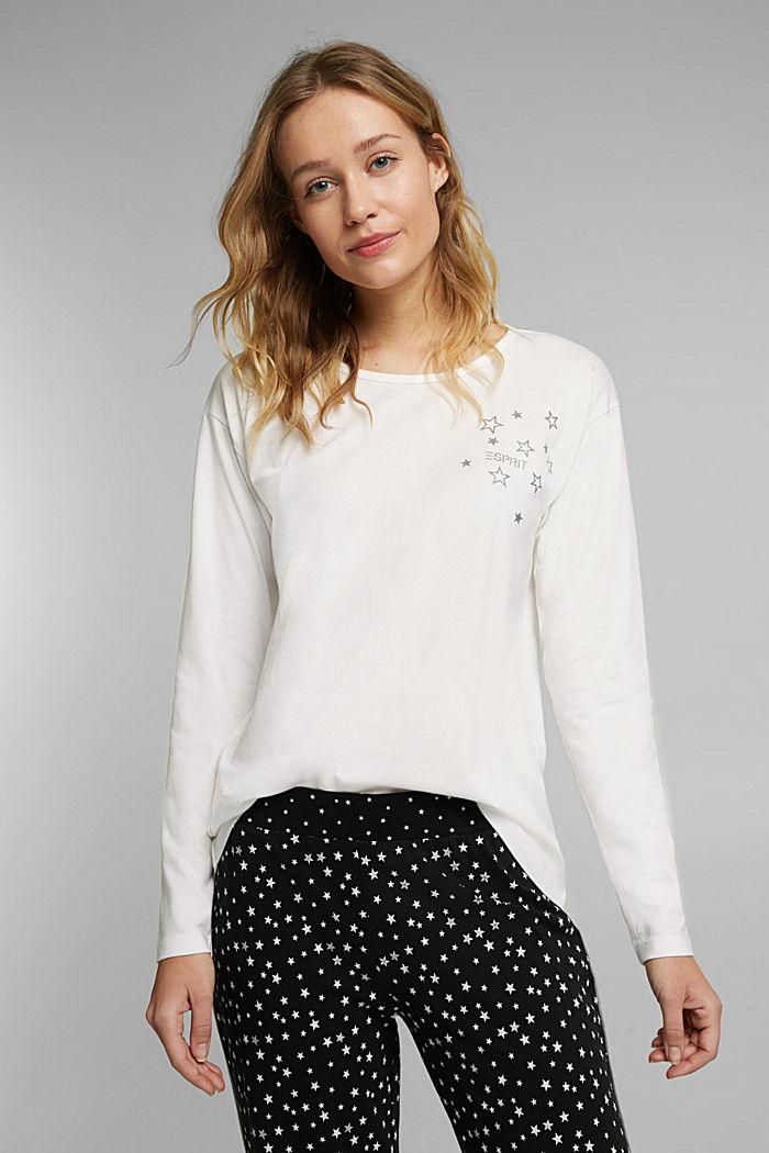 Jersey pyjamas made of 100% organic cotton, BLACK, detail image number 6