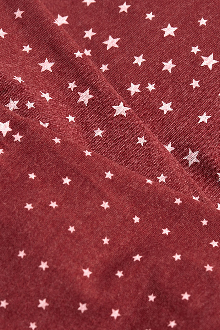 Jersey nightshirt with an all-over print, DARK RED, detail image number 3