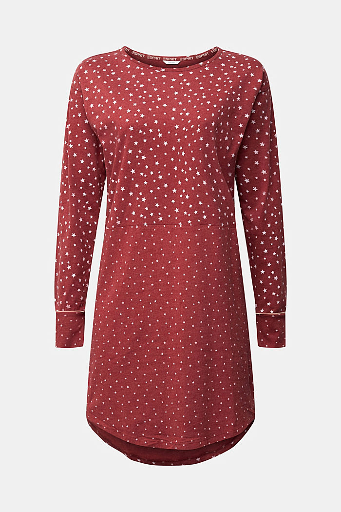 Jersey nightshirt with an all-over print