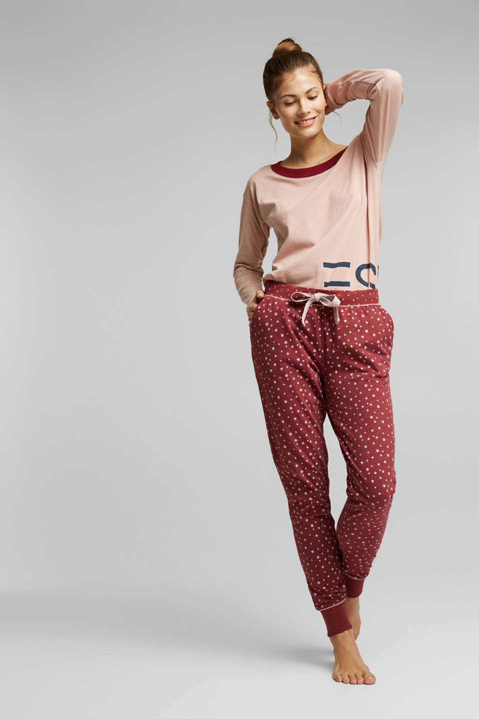 Esprit - Pyjamabroek met all-over print