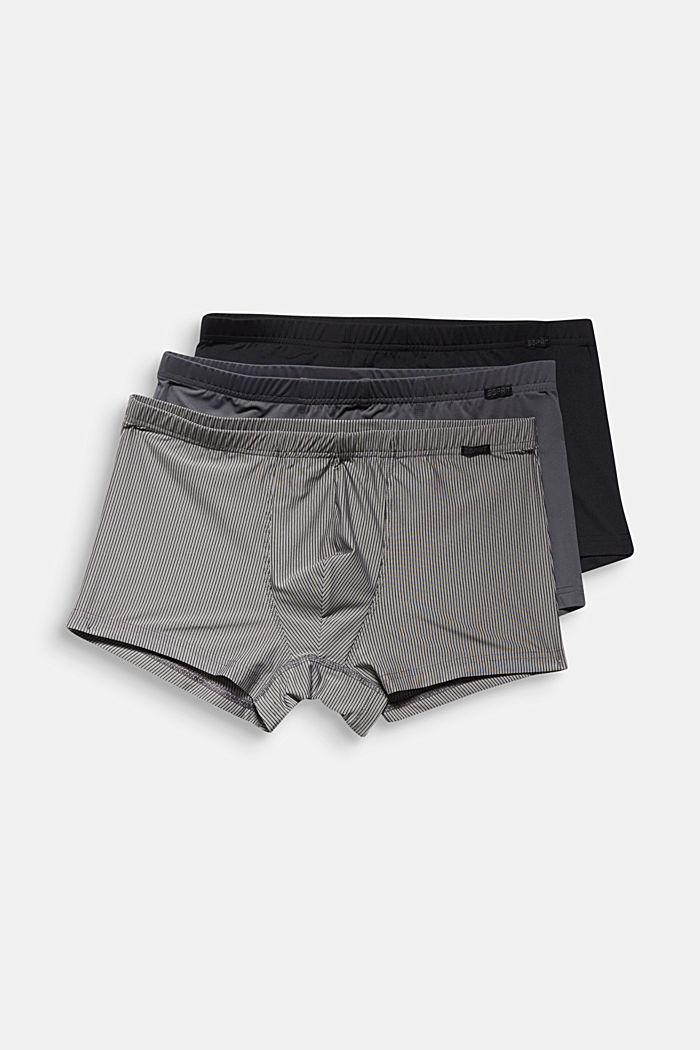 Recycelt: Microfaser-Shorts im 3er-Pack, BLACK, detail image number 3