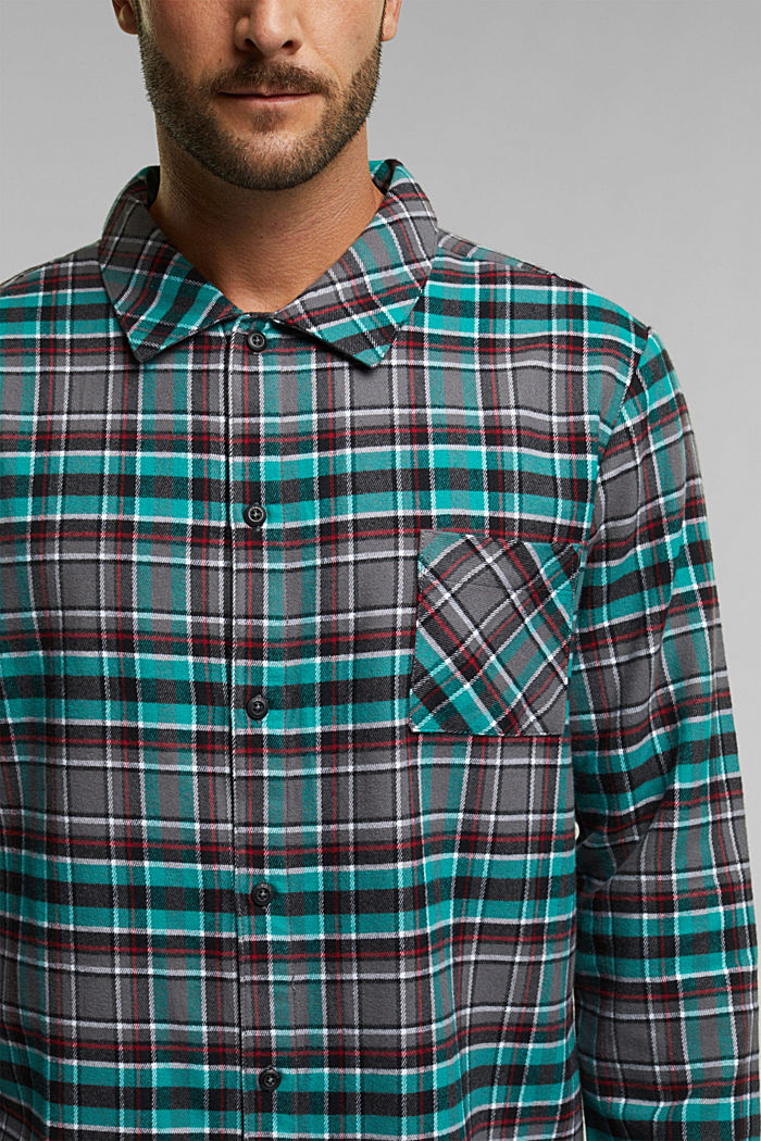 flannel pyjamas made of 100% organic cotton, ANTHRACITE, detail image number 2