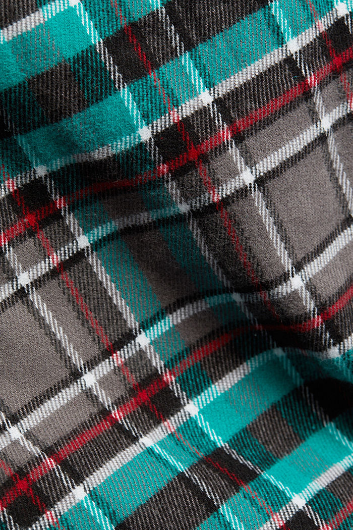 flannel pyjamas made of 100% organic cotton, ANTHRACITE, detail image number 4
